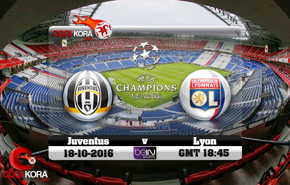 مشاهدة مباراة ليون ويوفنتوس اليوم 18-10-2016 في دوري أبطال أوروبا