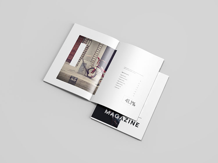 Letter Magazine Mockup PSD