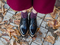 fashion blogger diyorasnotes autumn bordo marsala culottes zaful oxfords navy coat%2B%25284%2B%25D0%25B8%25D0%25B7%2B5%2529 - HOW TO STYLE SOCKS