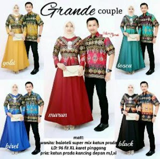 Model Baju Batik Couple Berhijab