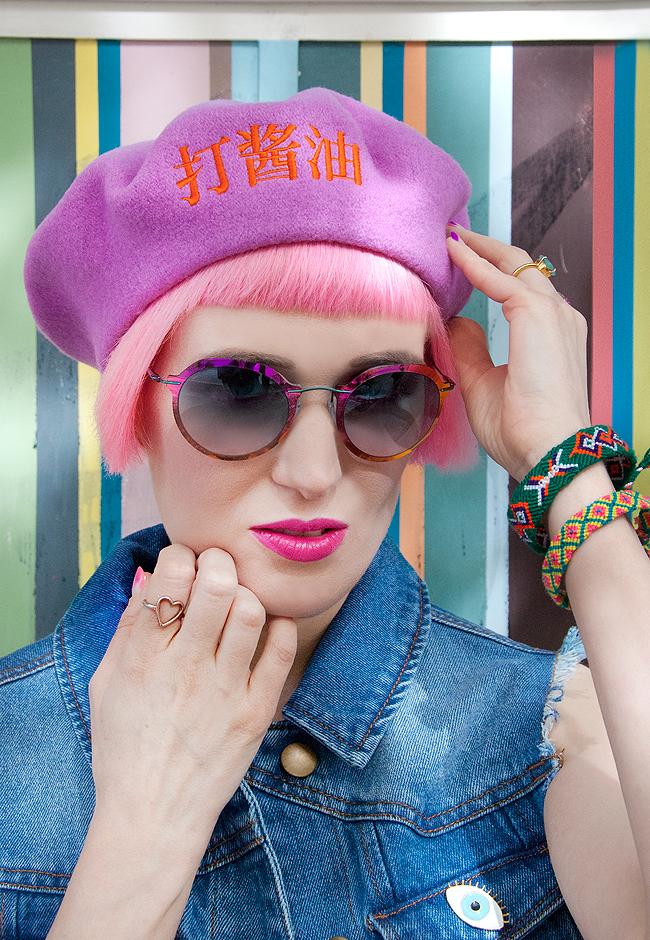 Silhouette sunglasses, Shanghai Tofu beret, je ne sais quoi