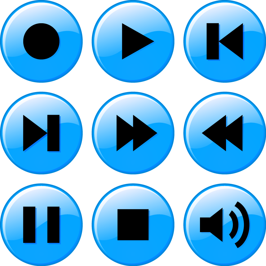 music player icons color download svg eps png psd ai vector