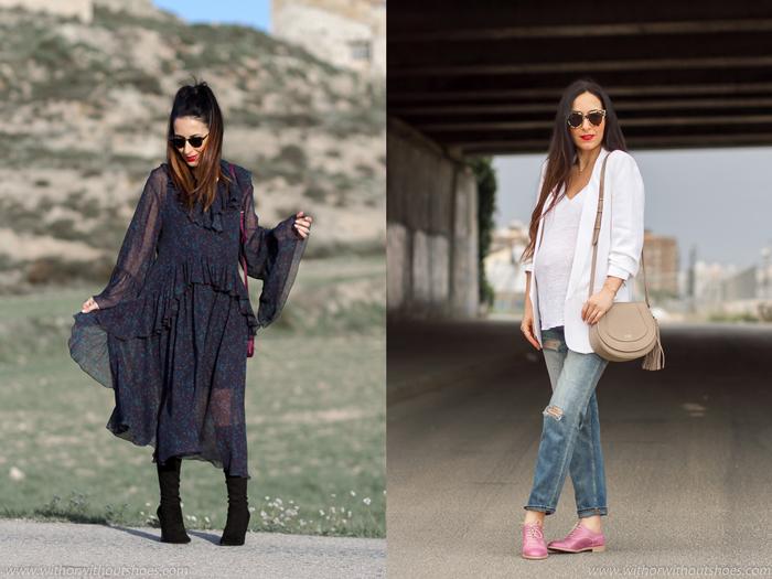 Resumen streetstyle mejores looks embarazada primavera de la blogger influencer de moda de Valencia