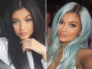 Baby Blue: Kylie Jenner changed hair color