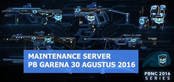 Maintenance Server PB Garena Indonesia 30 Agustus 2016