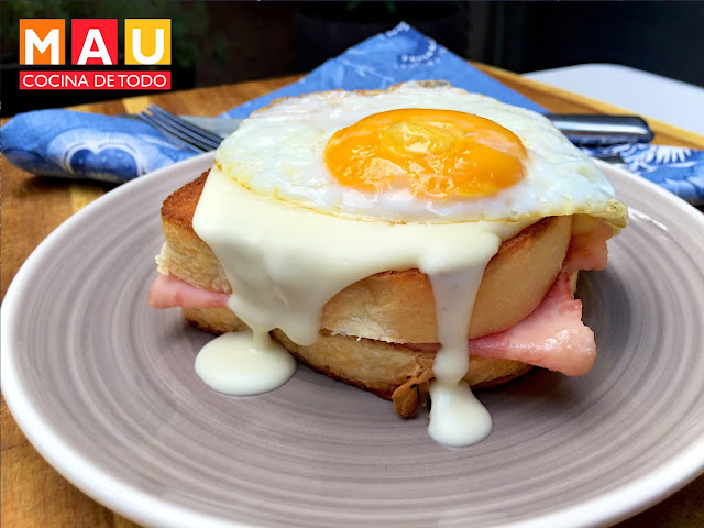 receta croque monsieur madame facil