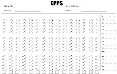Lembar Jawaban EPPS