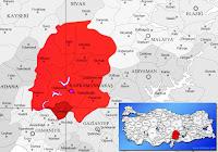 Türkoğlu ilçesinin nerede olduğunu gösteren harita