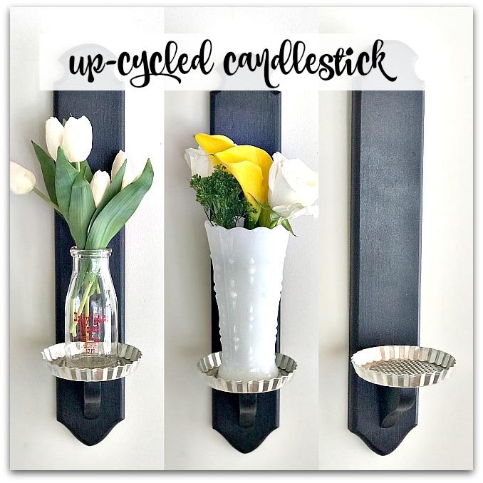 Three views of candlestick repurpose