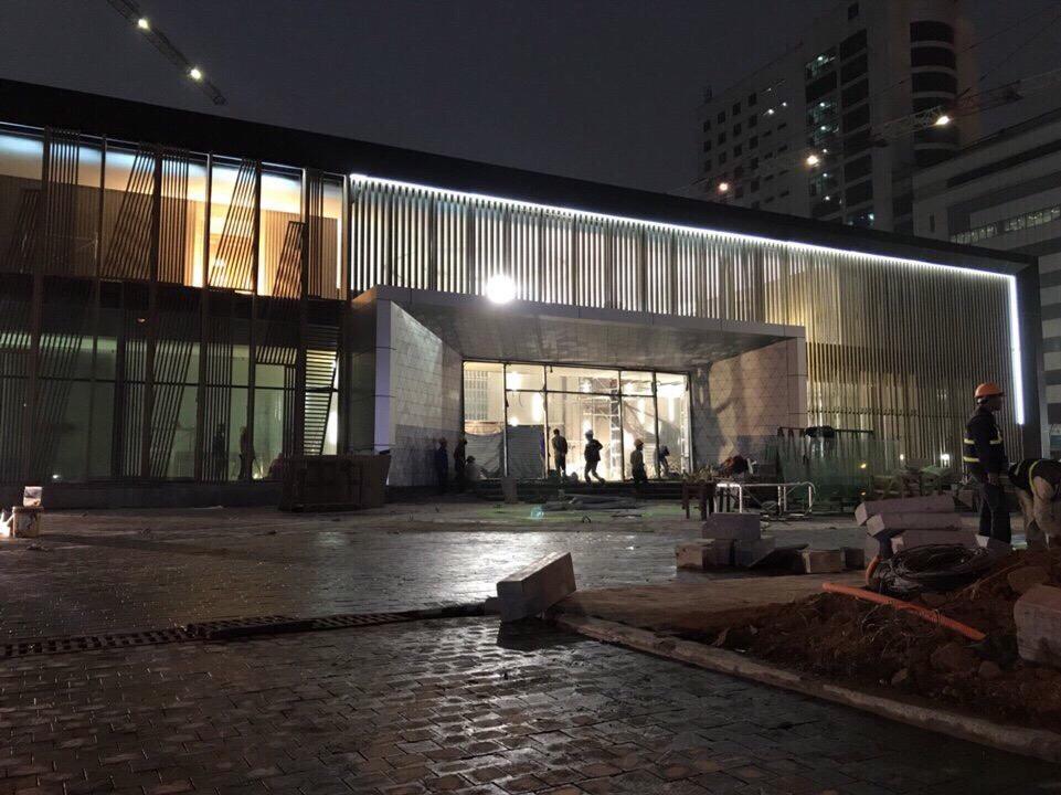 Thực tế về đêm của dự án Hinode City
