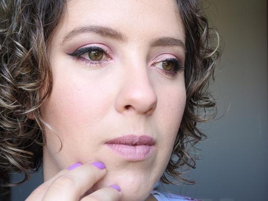 Maquiagem rosa com produtos nacionais #blogueirasupergloss