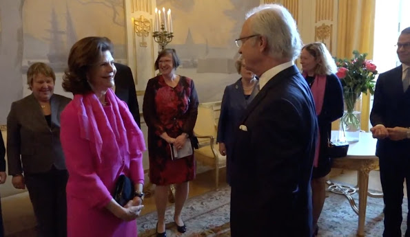 King Carl XVI Gustaf, Queen Silvia, Prince Daniel and Prince Carl Philip of Sweden attended the Baltic Sea Seminar