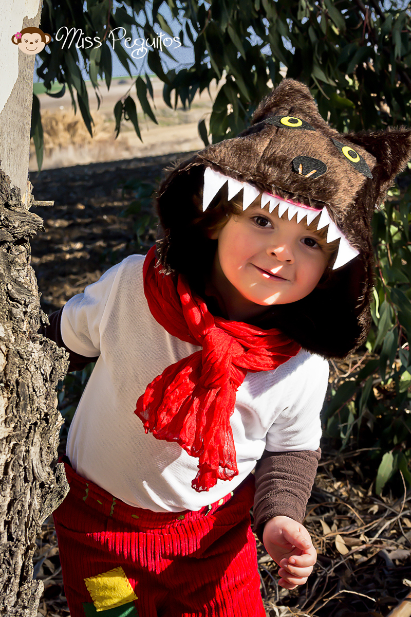 diy disfraz casero caperucita y lobo costume wolf and red riding hood