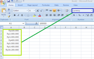 Cara Mudah Merubah Default satuan Mata Uang Accounting Dari $ Menjadi Rp Di Microsoft Excel
