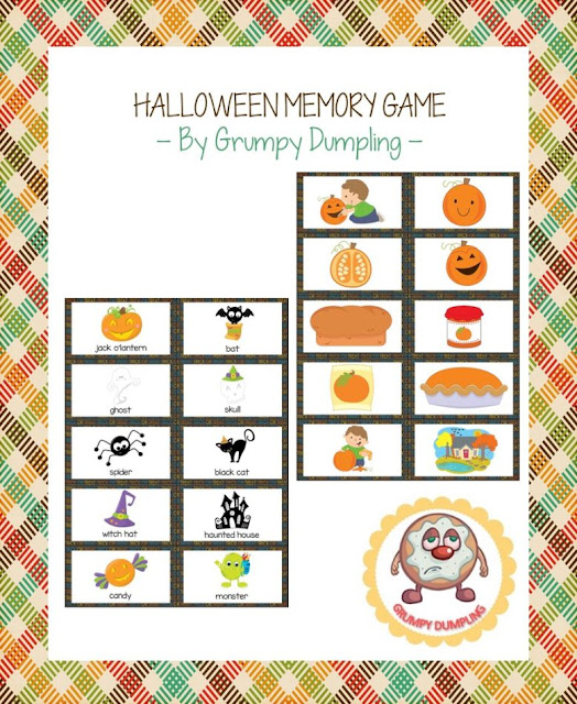 https://www.teacherspayteachers.com/Product/Halloween-Memory-Game-With-and-Without-Text-2156222