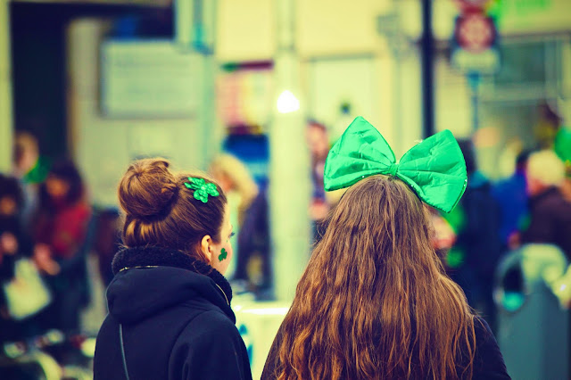 Girls dressed up for Paddy's day