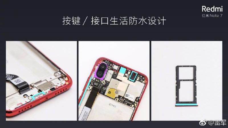 Redmi Note 7 has some sort of water splash resistance too!