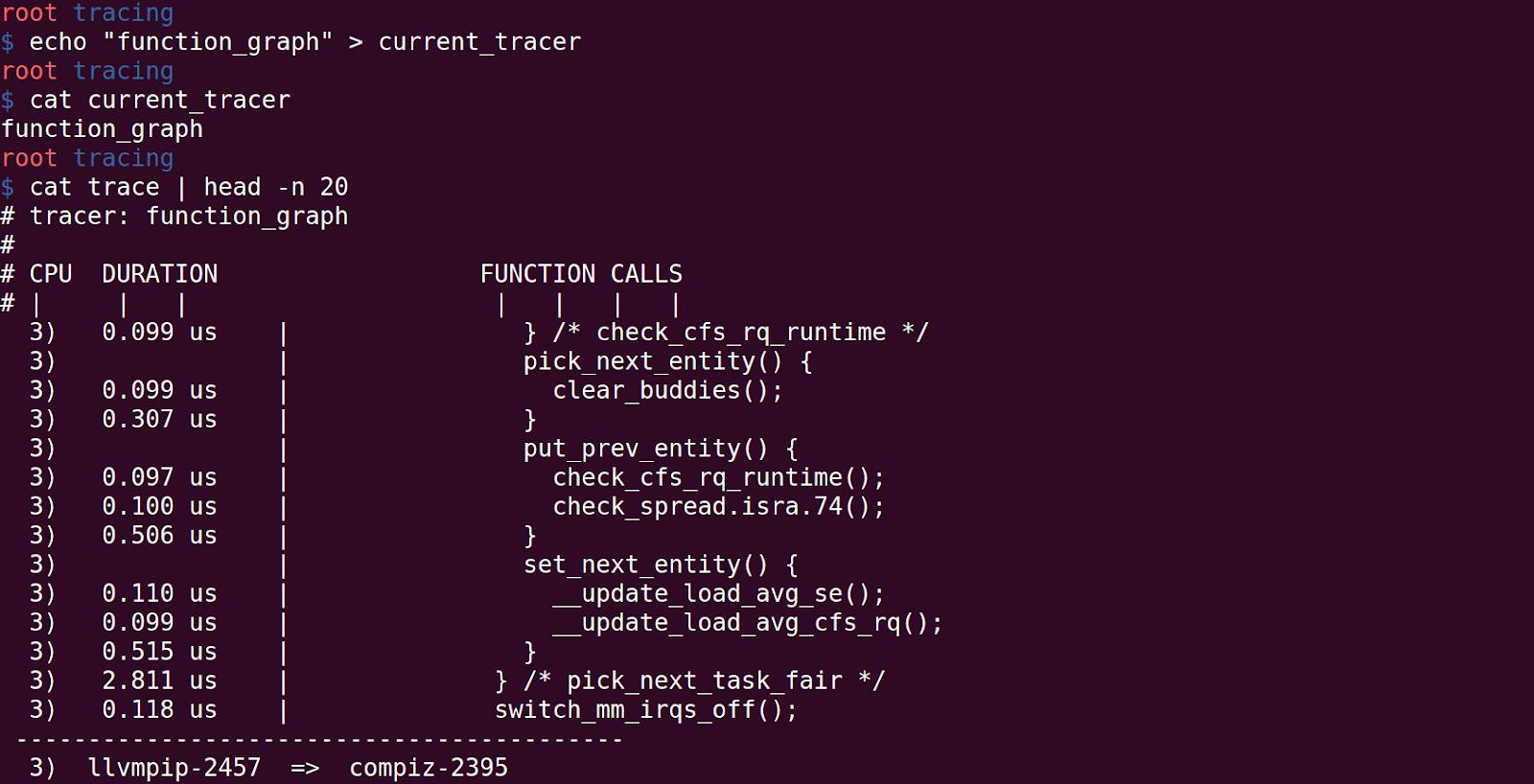 Debugging Linux Kernel using ftrace Part3 - Function Graph