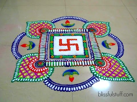 Swastik Rangoli Design Diwali Special rangoli