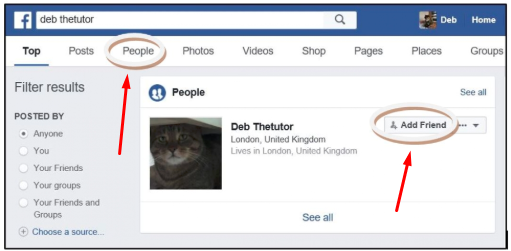 How To Search For People On Facebook<br/>