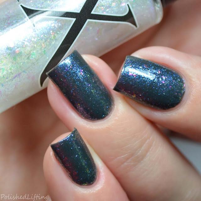 color shifting flakie nail polish topper