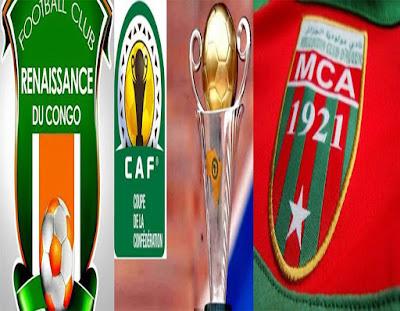 مباراة مولودية الجزائر ونادي رونيسانس الكونجولي اليوم