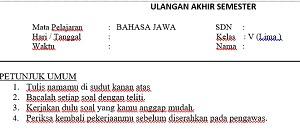 Orang Jawa yang setiap harinya menggunakan Bahasa Jawa  Soal UAS Semester 1 Bahasa Jawa kelas 5 SD MI semester 1 Dan Kunci Jawaban