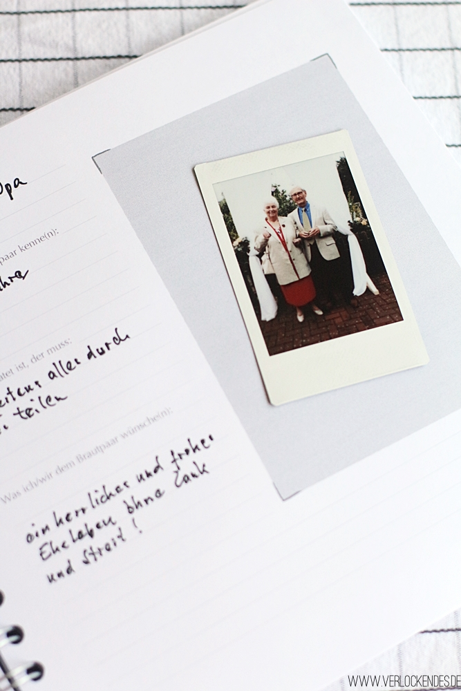 Erinnerungen Hochzeit DIY basteln