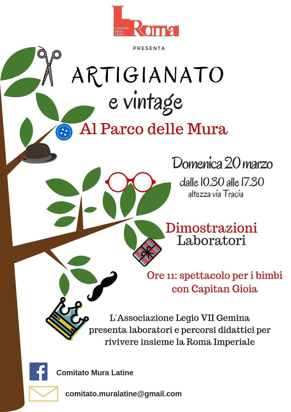 Artigiani e vintage comitato mura latine for Rivista casalinga per artigiani
