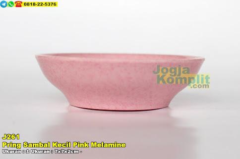Piring Sambal Kecil Pink Melamine