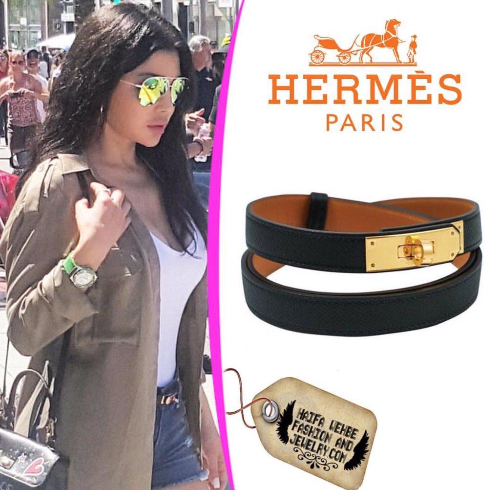Haifa Wehbe Wearing Hermes Black Kelly Belt with Gold Hardware. 8f1ffd68748c0