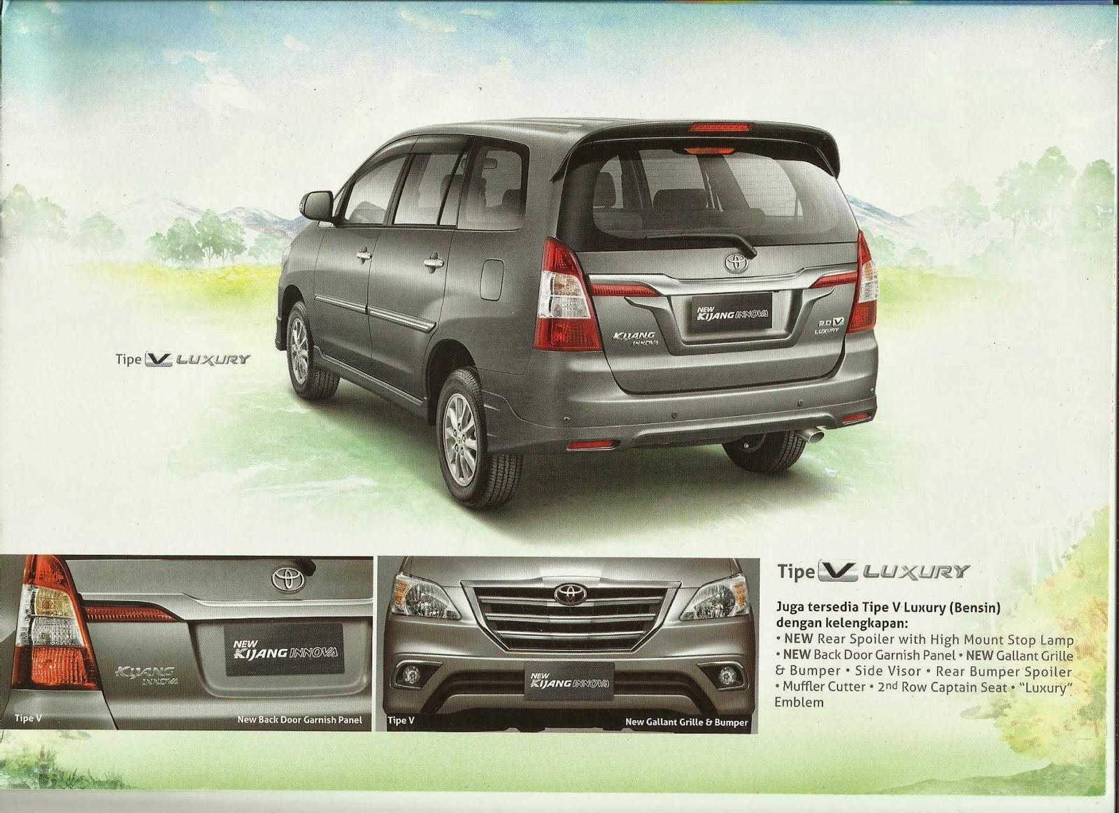 spesifikasi new innova venturer all toyota camry malaysia auto2000 karawang brosur dan