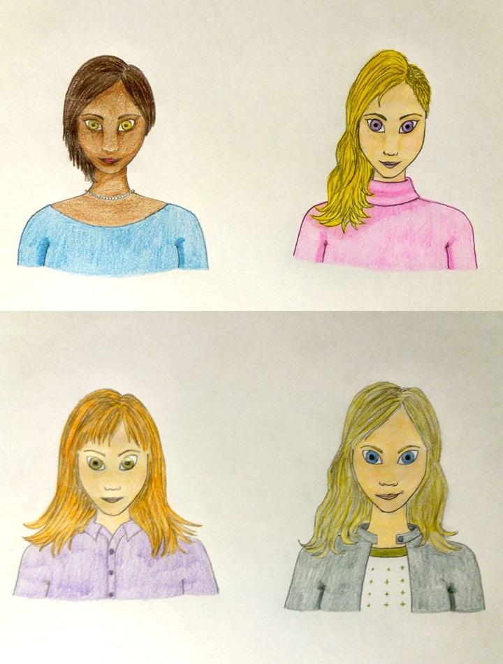 As mulheres de Divindade Artificial: Illana, Madeline, Njara e Ramaddeshia