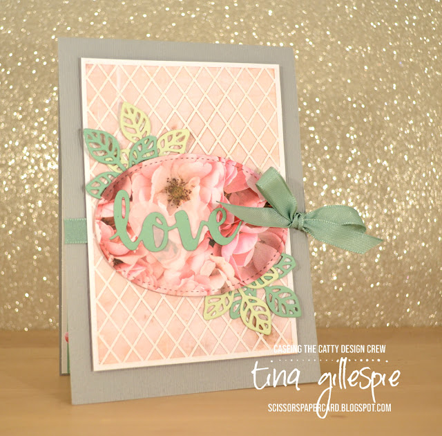 scissorspapercard, Stampin' Up!, CASEing The Catty, Beautiful Bouquet, Petal Promenade DSP, Delightfully Detailed SDSP, Subtle 3DTIEF, Stitched Shapes Framelits, Flourish Thinlits, Sunshine Wishes Thinlits, Support Ribbon Framelits