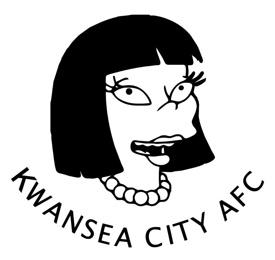 The Simpsons' version logo of Swansea