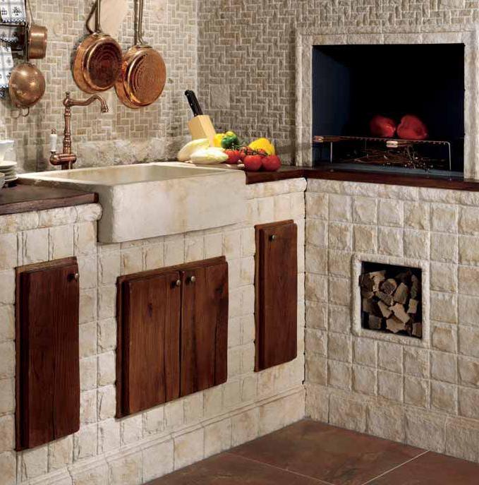 Consigli per la casa e l 39 arredamento cucine in muratura classiche country e moderne idee e for Rivestimenti per cucine classiche