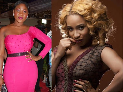 tonto dikeh calls mercy johnson a fool