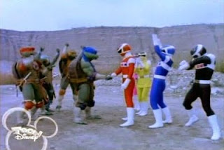 The Space Rangers Meet The Ninja Turtles