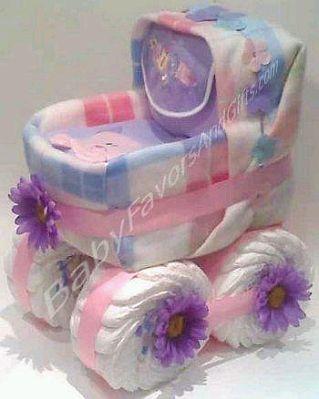 Resultado de imagen para carrito de pañales para baby shower