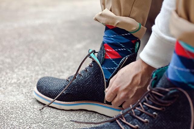 Blog Calitta as meias coloridas são muito elegantes para o homem