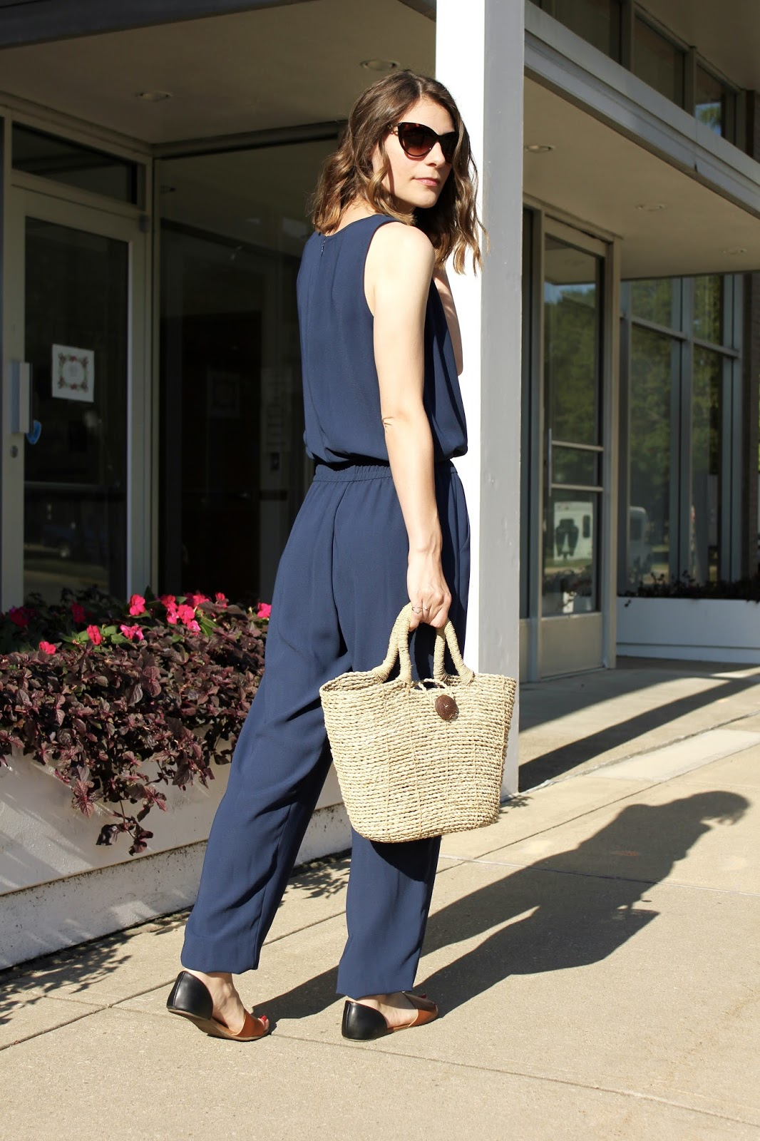 Navy Cabi Sleeveless Jumpsuit