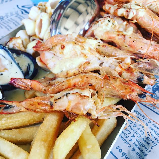 Seafood platter from Ocean Basket Paphos Cyprus