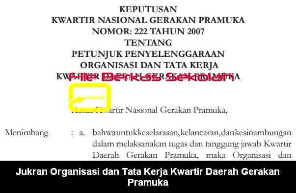 Jukran Organisasi dan Tata Kerja Kwartir Daerah Gerakan Pramuka