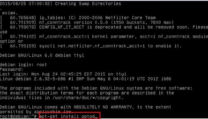 Konfigurasi VPN di Linux Debian 6