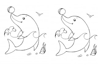 Adorable Baby Dolphin And Balls Coloring Pages Animals