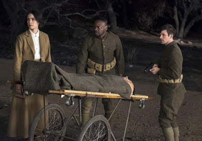 Timeless Season 2 Abigail Spencer, Malcolm Barrett and Matt Lenter Image 4