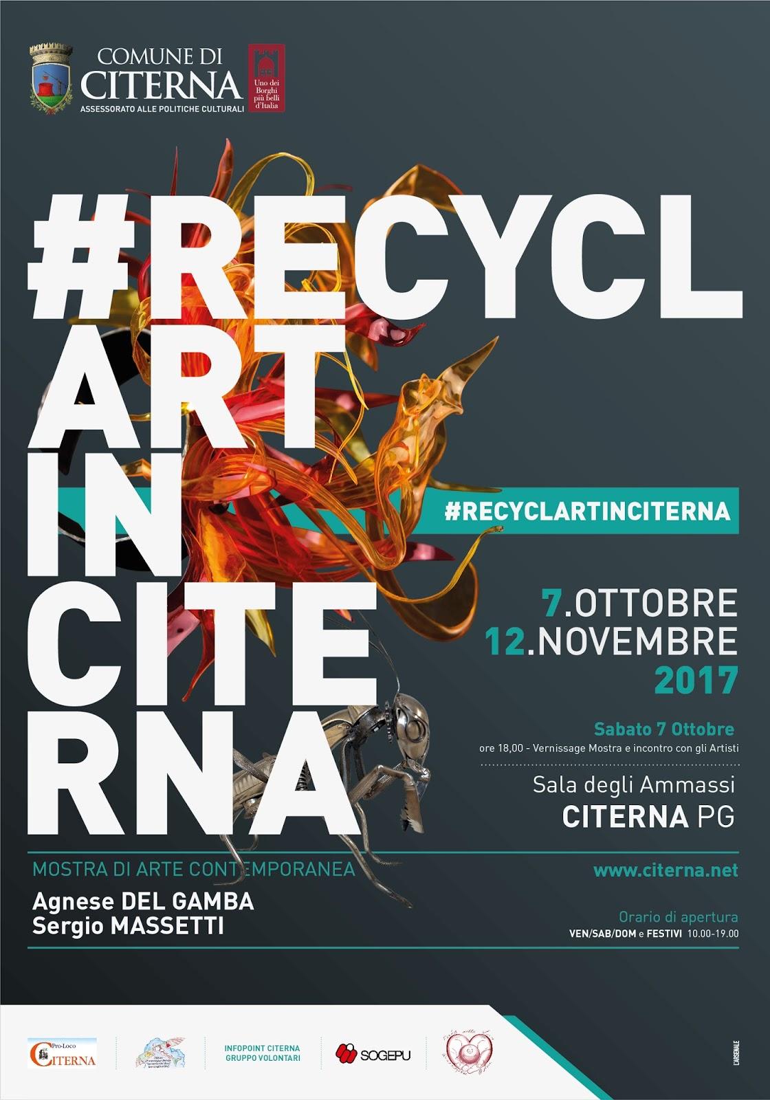 Dal 7 Ottobre Al 12 Novembre 2017 La Sala Degli Ammassi, In Corso Garibaldi  A Citerna (Pg), Ospita U201c#RecyclArtInCiternau201d, Doppia Personale Di Agnese  Del ...