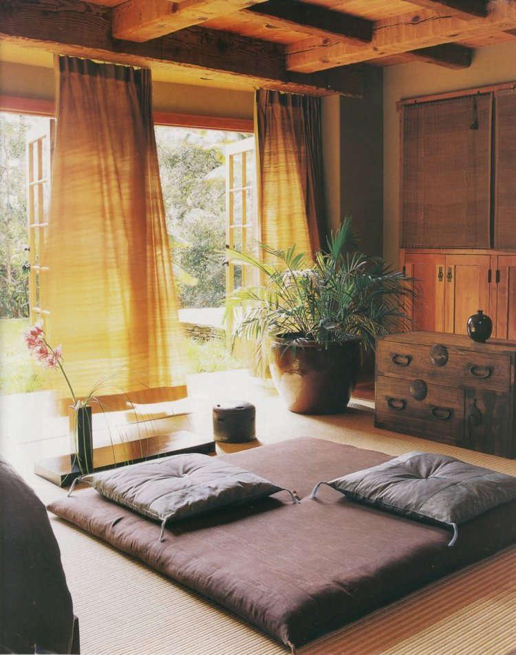 Model Ruang Tamu Lesehan Sederhana Tanpa Kursi Sofa