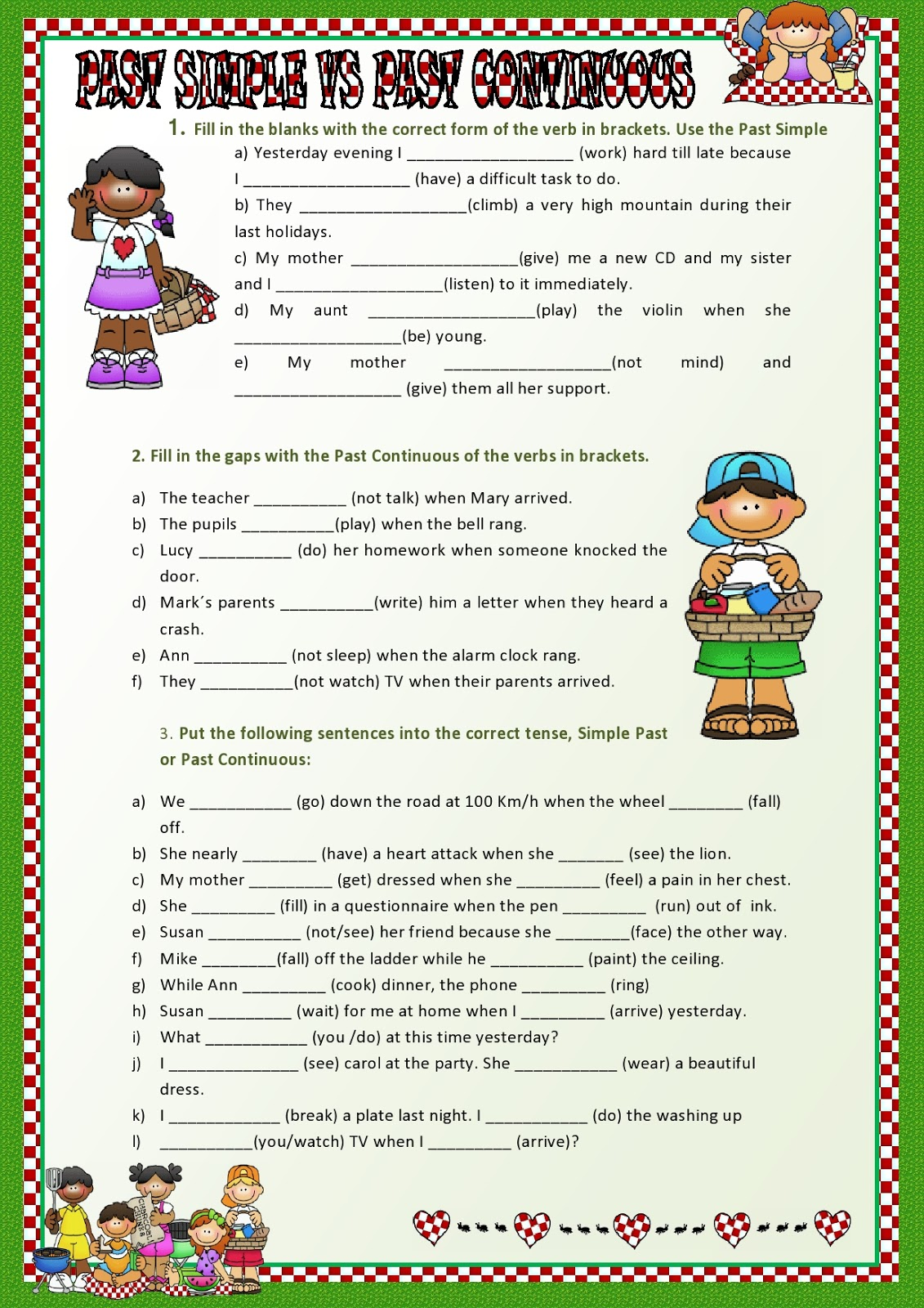 A Excellent Practice Simple Past Tense Vs Past