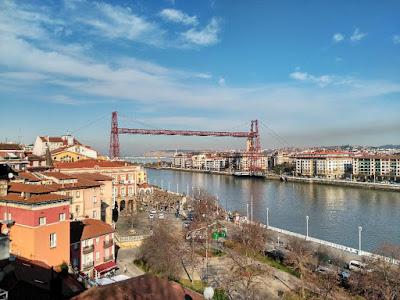 puente colgante vizcaya desde portugalete